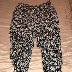 Black and Nude Patterned Pants